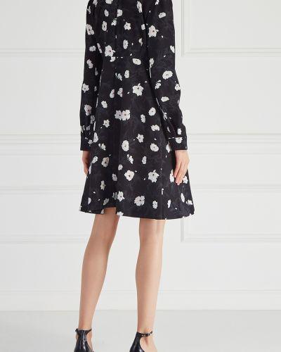 Повседневное платье с цветочным принтом с длинными рукавами Carven