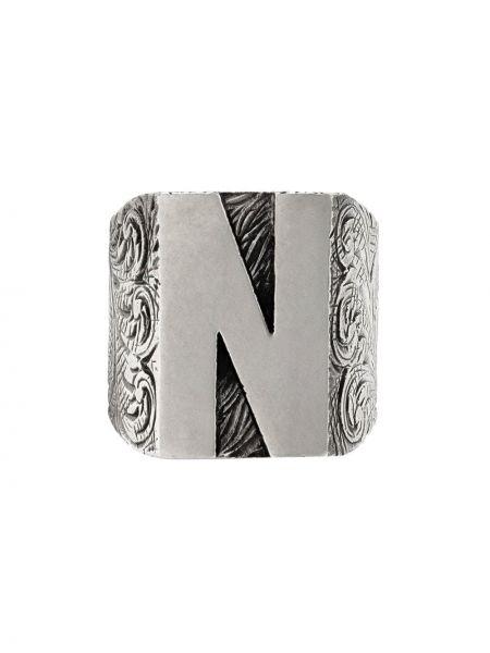 Pierścień ze srebra z ozdobnym wykończeniem Gucci