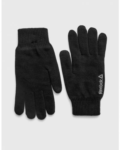 Rękawiczki wełniany czarny Reebok