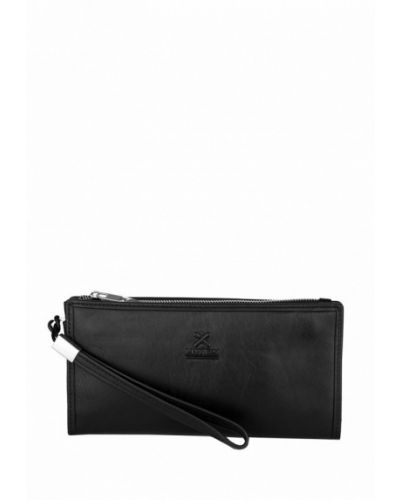 Черный кошелек Luxon