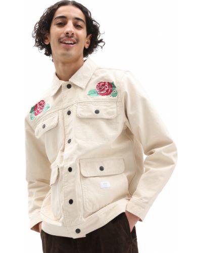 Белая хлопковая куртка Vans