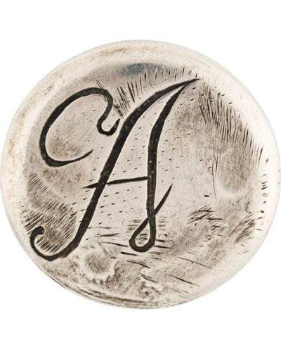 Брошь из серебра Ann Demeulemeester Blanche