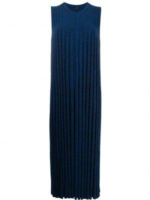 Трикотажное платье миди - синее Joseph
