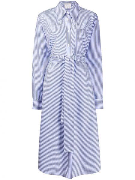 Платье макси в полоску на пуговицах Stella Mccartney