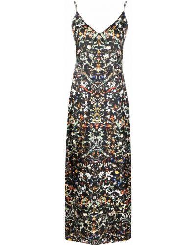Шелковое платье - черное Burberry