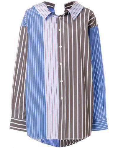 Классическая рубашка в полоску деловая Marni