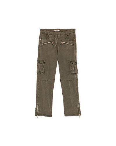 Укороченные брюки карго зеленый Patrizia Pepe