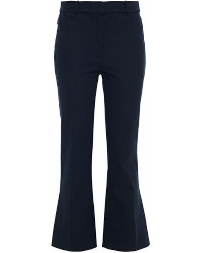 Хлопковые синие брюки стрейч Derek Lam 10 Crosby