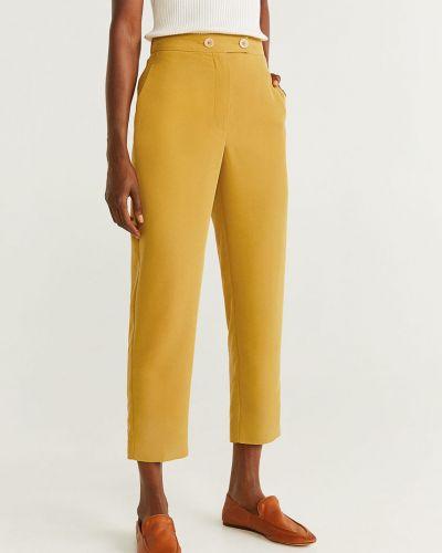 Брюки с завышенной талией с карманами брюки-сигареты Mango