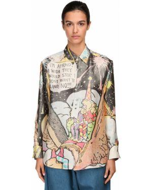 Классическая рубашка под запонки без воротника Lanvin