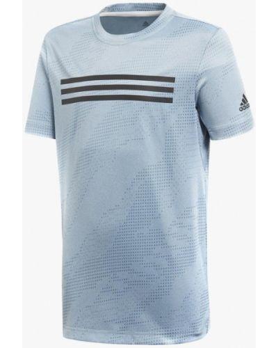 Голубая футболка спортивная Adidas