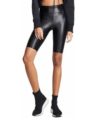 С завышенной талией трикотажные черные шорты Koral Activewear