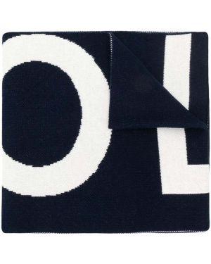 Niebieski szalik bawełniany Woolrich Kids