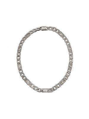 Łańcuch ze srebra srebrny Fendi
