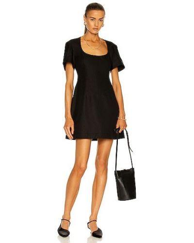 Черное хлопковое платье макси Khaite