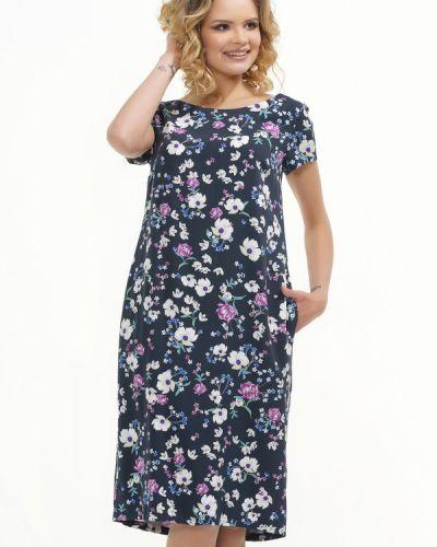 Платье из вискозы синее Vay