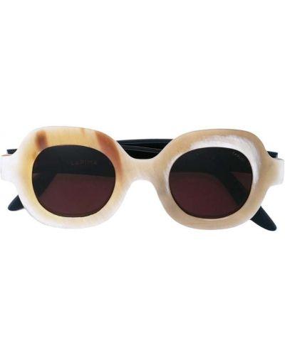 Солнцезащитные очки бежевые хаки Lapima