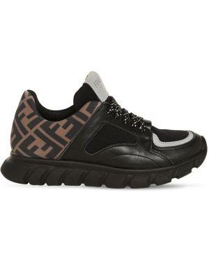 Sneakersy skórzany z neoprenu Fendi