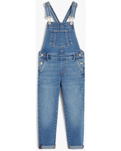 Комбинезон джинсовый синий Mango Kids