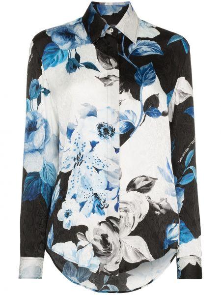 Codziennie niebieski z rękawami klasyczna koszula Off-white