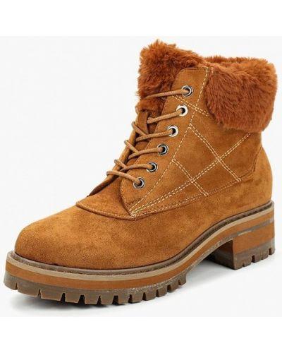 Ботинки на каблуке осенние замшевые Marquiiz