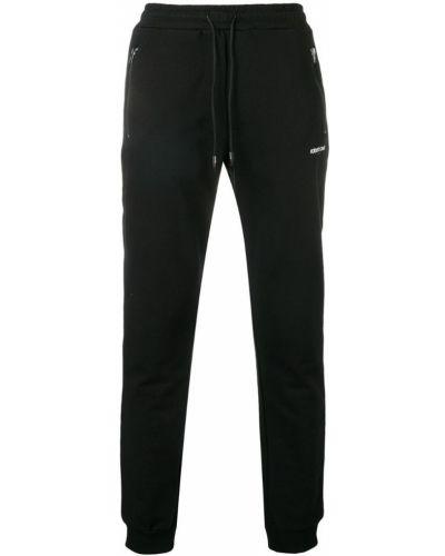 Черные классические брюки с манжетами с карманами Roberto Cavalli