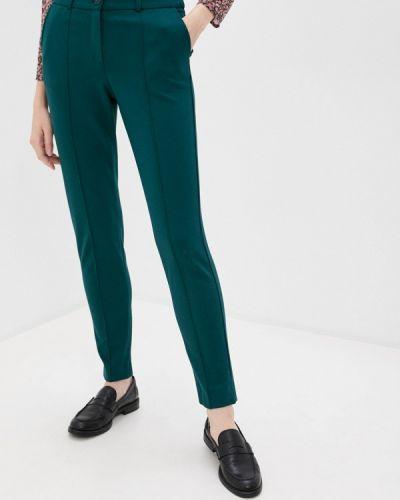 Повседневные зеленые брюки снежная королева