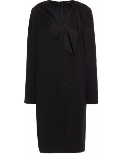 Платье атласное - черное Piazza Sempione