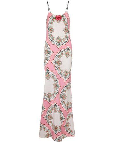 Шелковое розовое платье Rodarte