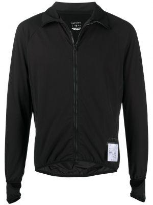 Czarna długa kurtka do biegania z długimi rękawami Satisfy