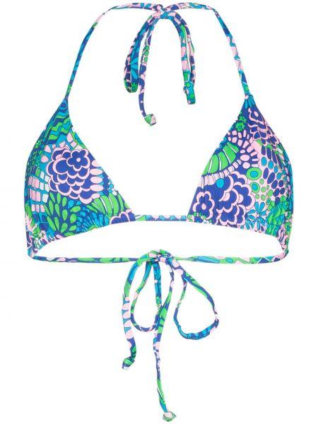 Пляжный синий слитный купальник с чашками Frankie's Bikinis