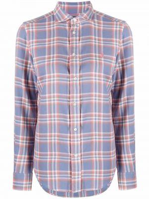 Синяя длинная рубашка Polo Ralph Lauren