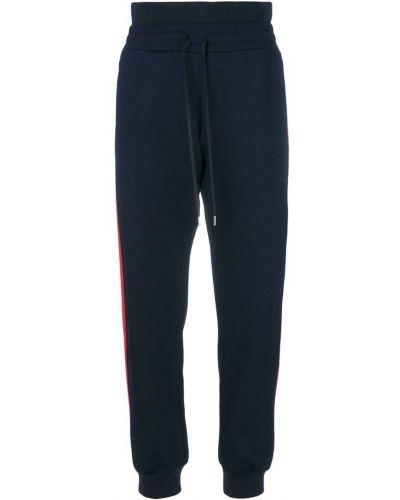 Спортивные брюки в полоску с полоской по бокам с отворотами Alexander Mcqueen