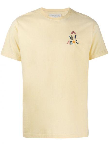 С рукавами желтая рубашка с короткими рукавами с вышивкой круглая A Kind Of Guise
