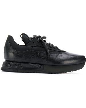 Черные кроссовки беговые на платформе Artselab