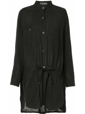 Черный топ на пуговицах винтажный Issey Miyake Pre-owned