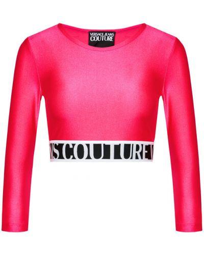 Różowa bluzka Versace Jeans Couture
