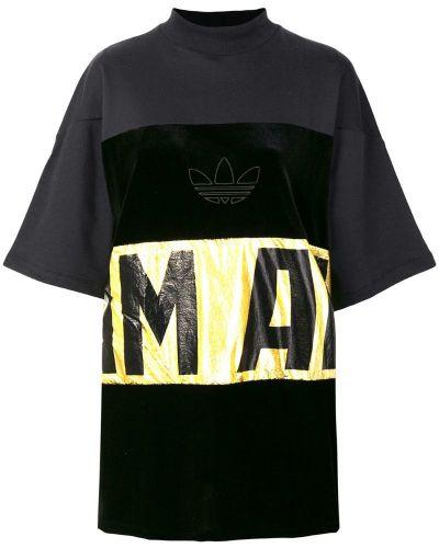 Свободная футболка с вышивкой с логотипом прямая Adidas