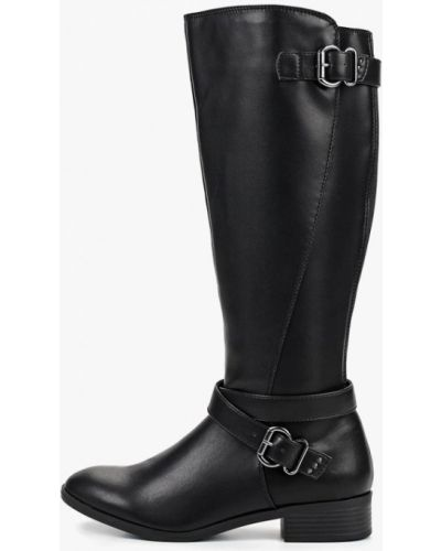 Черные кожаные сапоги Dorothy Perkins