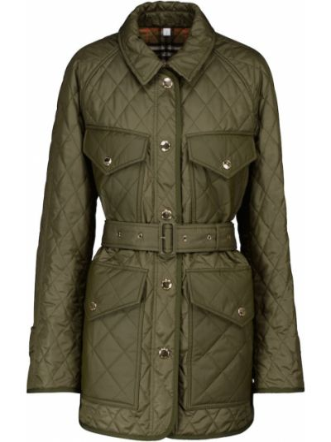 Стеганая куртка - зеленая Burberry