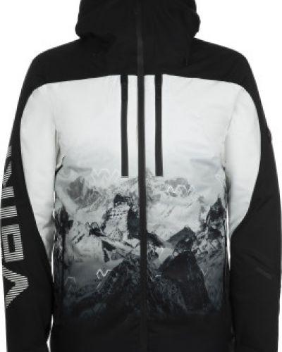 Шерстяная прямая черная утепленная куртка мембранная VÖlkl