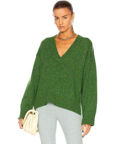 Шерстяной свитер - зеленый Ganni