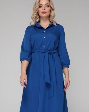 Платье с поясом на пуговицах со складками Ellcora