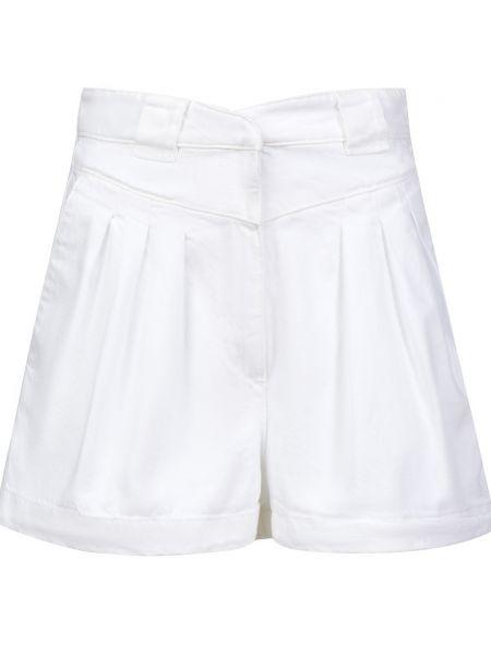 Хлопковые белые шорты на молнии Iro