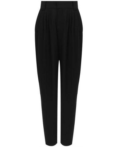 Шерстяные черные брюки с подкладкой Alessandra Rich