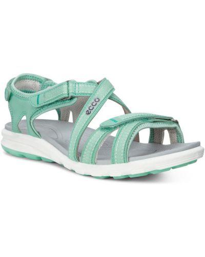 Спортивные сандалии зеленый на каблуке Ecco