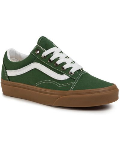 Zielone tenisówki Vans