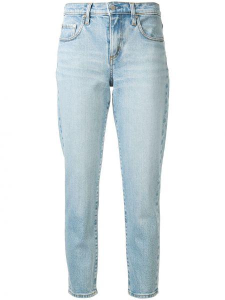 Укороченные джинсы mom синие Nobody Denim