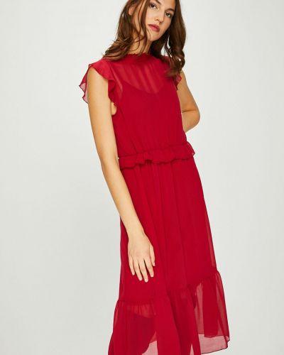 Платье миди прямое с оборками Vero Moda