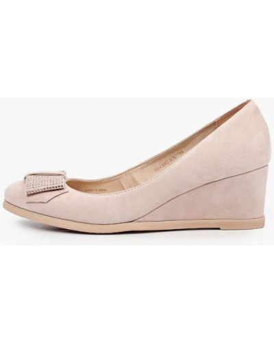 Бежевые туфли летние Pazolini